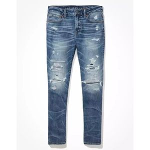 American Eagle AirFlex+ Patched Slim Jeans, 33